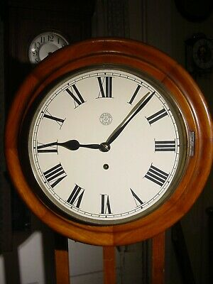 Antique Rare 1900 New Haven Large Walnut Gallery 8 Day Wall Clock Working Well