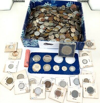 MASSIVE JOB LOT GENUINELY UNSORTED WORLD COINS, APPROX 8.3 KILO's + HOLDERS. #16