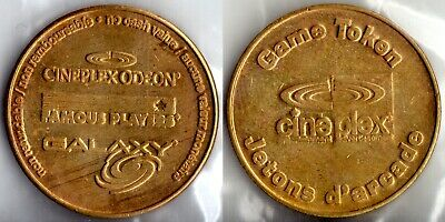 Cineplex Odeon Famous Players Galaxy Cinemas Canada Arcade Game Token/Jeton/Coin
