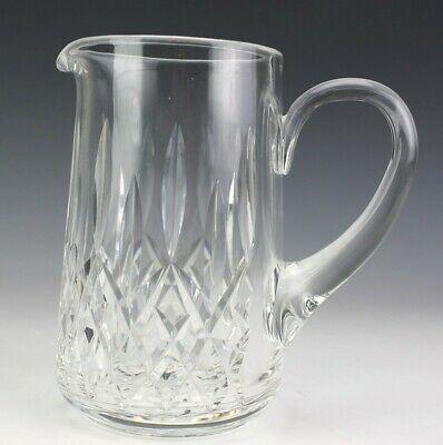 """Signed Waterford Deep Cut Crystal Lismore Pattern 7"""" Juice Water Pitcher NR PFP"""