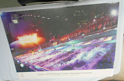 2000 Sydney Olympics Games Poster In Tube Of Issue - Opening Ceremony