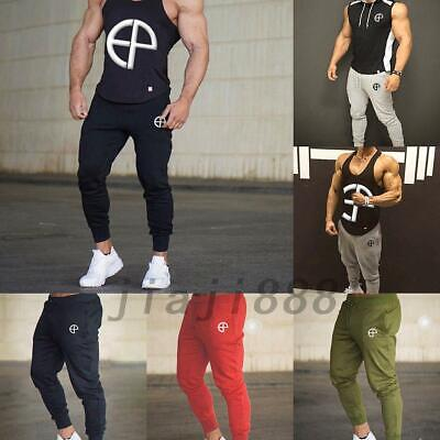 Men's Jogger Sports Gym Bodybuilding Running Track Trousers Sweatpants M-2XL