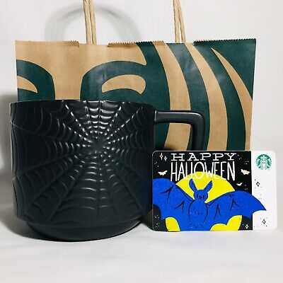 NEW Starbucks Halloween 2019 Black Spooky Spider Web 12 Oz Mug IN HAND SOLD OUT