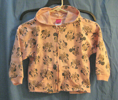 Minnie Mouse Pink Knit  Hoodie Jacket, Size S