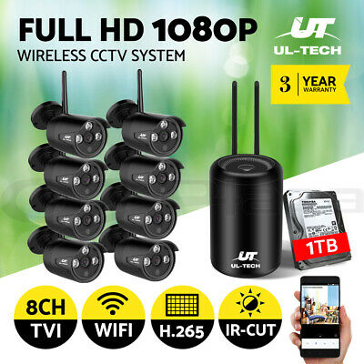UL-tech CCTV Security System Wireless Camera Home Outdoor IP WIFI H265 Day Night