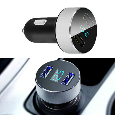 1x Car Accessories Quick Charge Dual USB Port Cigarette Lighter Adapter Voltage
