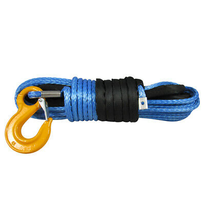 10MM X 30M Dyneema SK75 Winch Rope Hook Synthetic Recovery