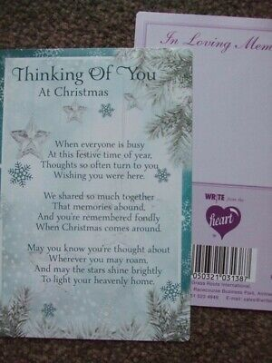 "In Loving Memory ""Thinking Of You At Christmas"" Xmas Graveside Memorial Card"