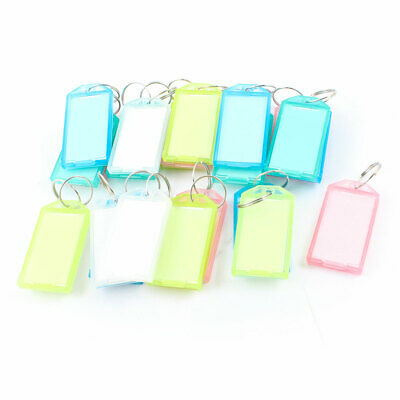 Barber Multicolor Plastic Name Tag Badge Clip Holder Key Chain 25 Pieces