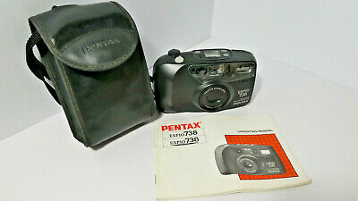 Pentax ESPIO 738 Compact Camera, with case, in working order, instructions