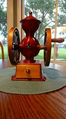 John Wright Wrightsville PA Coffee Mill Bean Two Wheel Grinder Cast Iron *read*