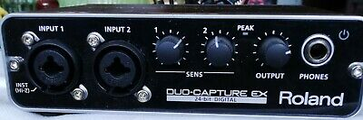 Roland Duo-Capture EX USB Audio Interface - Opened But Only used a few times.