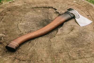 Custom Handmade Engraved Steel Viking Axe