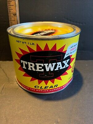 Vintage Can Of Trewax Never Been Opened 1 Lb Can Excellent Condition