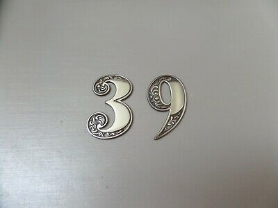 Vintage Brass Numbers 3 and 6, or 9, House Door Numbers