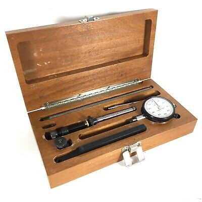 "Scherr Tumico Dial Indicator .250 Range .001"" With Wooden Case"