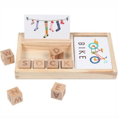 Baby Wooden English Spelling Alphabet Letter Game Early Learning Toy For Kids UK