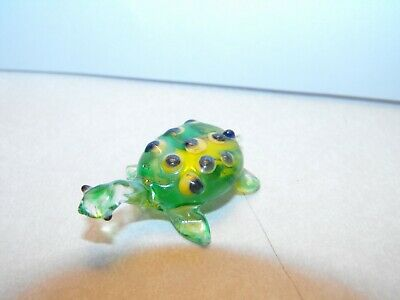 Hand Blown Glass Turtle Figure