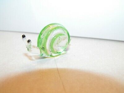 Hand Blown Glass Snail Figure