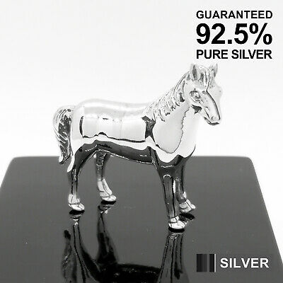 925 Sterling Silver Miniature Horse Animal Figure ✔️Solid✔️Quality Gift✔️UK