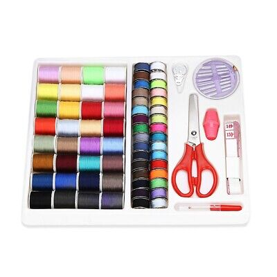 Mini Beginner Sewing Kit Supplies Adults Kids Home Travel Campers Storage Box