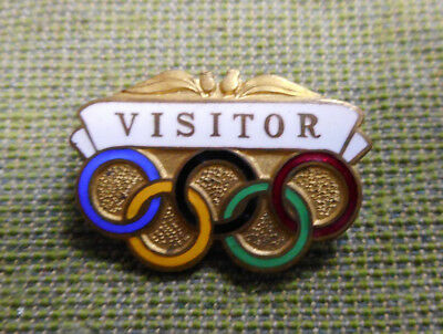 #D366. Australian  1956 Melbourne  Olympic  Visitor  Pin / Badge