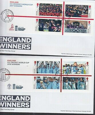 GB 2019 Cricket World Cup Winners MS pair First Day Cover London NW8 special omk