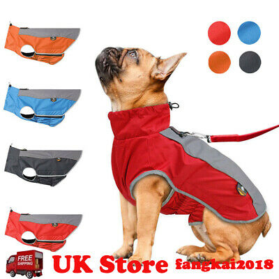 Waterproof Pet Dog Puppy Vest Jacket Dogs Clothes Outdoor Rain Coat UK