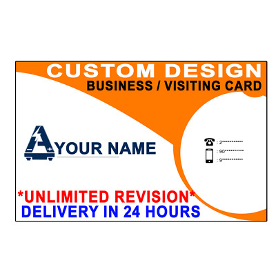 DESIGN YOUR PROFESSIONAL BUSINESS CARD ⭐UNLIMITED REVISIONS⭐ ⚡24 Hour Delivery⚡