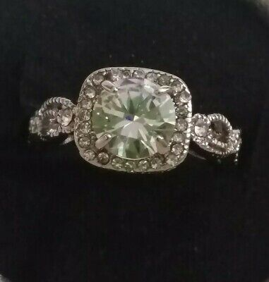 Size M Antique Look Ring. Silver Plated. Very Unusual
