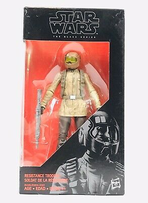 Hasbro Star Wars The Black Series 6in.- 10 Resistance Trooper New in Sealed Box