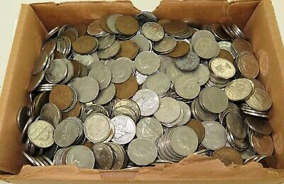 APPROX 5.2 Kgs HUGE JOB LOT GENUINELY UNSORTED CANADA CANADIAN 5 CENTS.