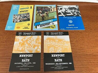 bundle of 5 newport rugby union programmes