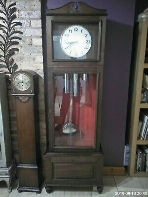 vintage urgos  grandfather clock German  movement Westminster chimes longcase