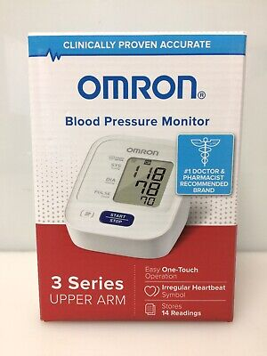 Omron BP7100 3 Series Upper Arm Blood Pressure Monitor, NEW
