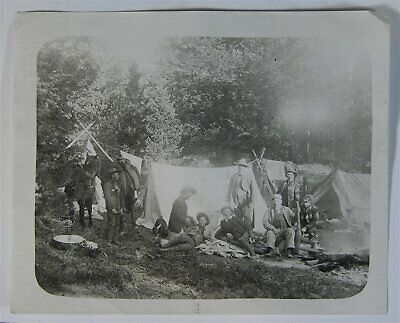1907 Buffalo Bill Cody Photograph Of Famous Camp Foley Hunting Trip Wild West