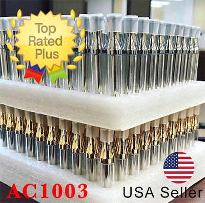 100-Pack 1ML Cart Storage box Gold color Ship Same Day AC1003