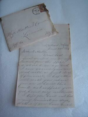 Antique 1887 Handwritten Letter About Going To Baseball Game In Detroit Vs.ny