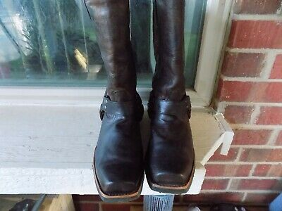 Men's Harley Davidson Harness Motorcycle Boots Sz 8.5 M Square Toe  All-Terrain