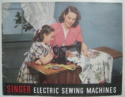 Singer Electric Sewing Machines Vintage 1940s 16 page Advertising Brochure