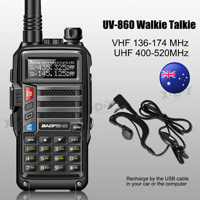 BaoFeng UV-860 8W Dual Band Walkie Talkie 128CH VOX CTCSS DCS Two Way Radio 10km