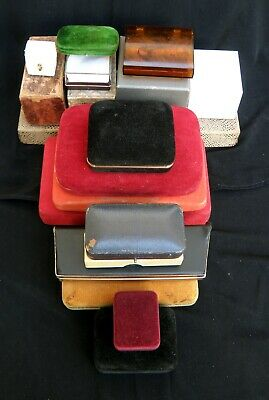 QUANTITY of OLD & VINTAGE JEWELLERY CASES & BOXES