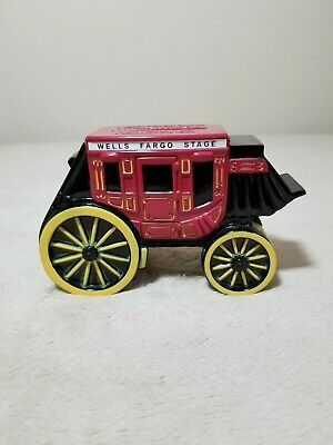 WELLS FARGO STAGE Collectible  Coach Coin Bank Metal
