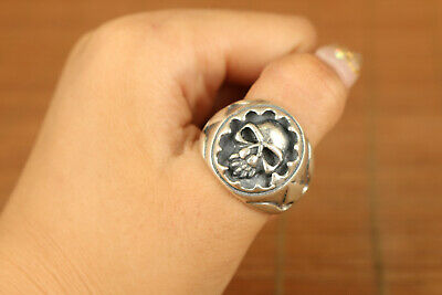 popular fashionable 925 silver cool skull ring man and woman noble gift