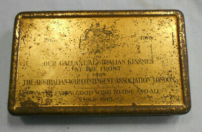#Ee. 1915  Christmas / New Year Wwi Australian Troop Issue Pudding Tin