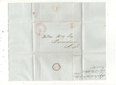 1846 Stampless Folded Cover, Apalachicola, Fl, Ref: Cotton Order