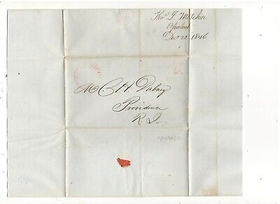 1846 Stampless Folded Leter, Apalachicola, Fl, Ref: Cotton Quote