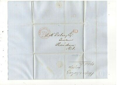 1851 Stampless Folded Letter, Apalachicola, Fl, Ref: Cotton Going To Market