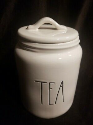 Rae Dunn Tea Canister Large Letter With Lid new!