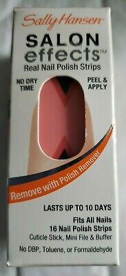 Sally Hansen Salon Effects Real Nail Polish Strips, Get The Point, 16 Count